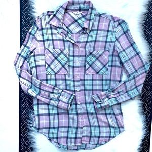 Aeropostale Plaid Flannel Button Up Shirt